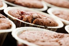 Fresh muffins royalty free stock images