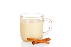 Fresh mug of eggnog Royalty Free Stock Images