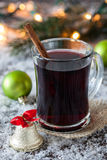 Fresh mulled wine. With cinnamon Stock Image