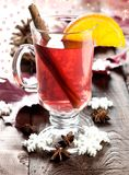 Fresh mulled wine with cinnamon Stock Images