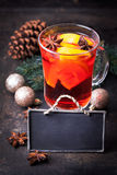 Fresh mulled wine with em Stock Photo