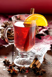 Fresh Mulled Wine For Christmas Royalty Free Stock Photos