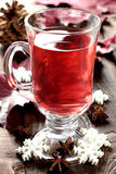 Fresh Mulled Wine In Glass Stock Photography