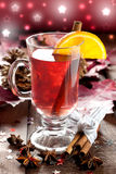 Fresh mulled wine with orange Stock Photography