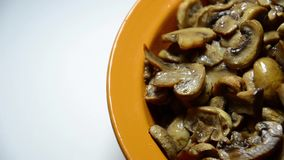 Fresh mushroom baking on a plate Royalty Free Stock Photography