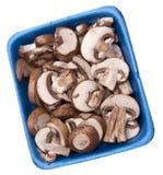 Fresh Mushroom Slices Stock Images