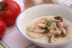 Fresh mushroom soup Stock Photos