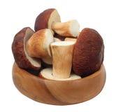 Fresh mushrooms. On white background Royalty Free Stock Image