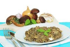 Fresh mushrooms prepared Royalty Free Stock Photo