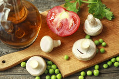 Fresh mushrooms and vegetables Royalty Free Stock Photography