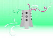 Fresh music-abstract background Royalty Free Stock Images