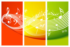 Fresh music theme. With notes Royalty Free Stock Photos