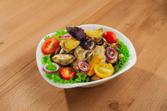 Fresh mussels salad Royalty Free Stock Photography