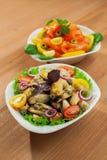Fresh mussels salad Stock Image