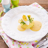 Fresh mustard eggs Stock Photos