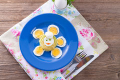 Fresh mustard eggs Stock Images