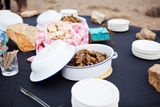 Fresh Mutton Meat Kebabs And Roasted Bread Served In Dishes Stock Photography
