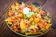 Fresh nachos on the table Stock Photography