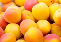 Fresh natural apricot background Stock Photos