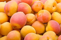 Fresh natural apricot background Stock Photo