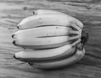 Fresh natural banana bunch Black and white style Royalty Free Stock Image