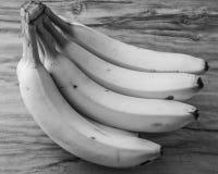 Fresh natural banana bunch Black and white style Royalty Free Stock Image