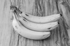 Fresh natural banana bunch Black and white style Stock Photos