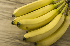 Fresh natural banana bunch stock photo