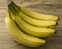 Fresh natural banana bunch royalty free stock photos