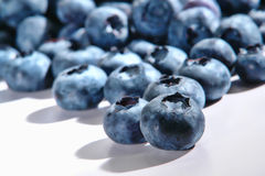Fresh and Natural Blueberries Close Up on White royalty free stock images