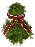 Fresh Natural Christmas Wreath Royalty Free Stock Images