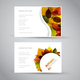 Fresh natural fall banners Royalty Free Stock Images
