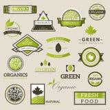 Fresh and natural food logos Royalty Free Stock Image