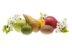 Fresh natural fruits - composition Royalty Free Stock Photography
