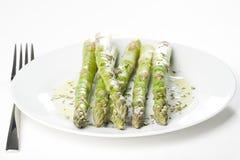 Fresh natural green asparagus Stock Image