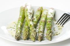 Fresh natural green asparagus Stock Images