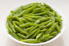 Green beans. Fresh and natural green beans royalty free stock photo