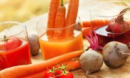Fresh, natural juices Royalty Free Stock Photos