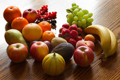 Fresh, natural looking fruit with backlight Royalty Free Stock Photos