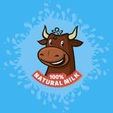 Fresh natural milk emblem Stock Image