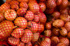 Fresh natural onions in shop. In Bulgaria Stock Photos