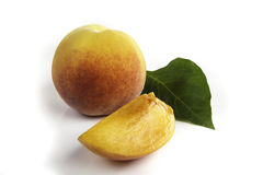 Fresh natural ripe peach. Ready to eat Royalty Free Stock Photography