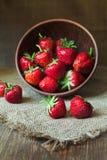 Fresh natural strawberries sweet vegetarian Stock Photography