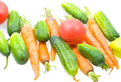 Fresh natural vegetables on white Stock Image