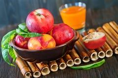 Fresh nectarine Stock Photography