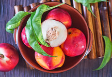 Fresh nectarine Stock Photos