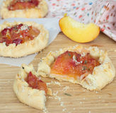 Fresh nectarine pies Royalty Free Stock Images