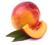 Fresh nectarine royalty free stock photos