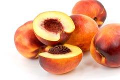 Fresh nectarine on white background Stock Photography
