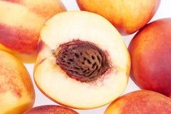 Fresh nectarine on white background Stock Image
